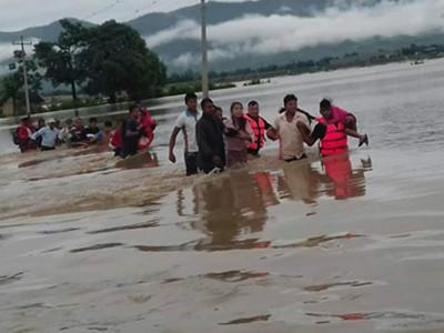 Flood Victim in Nepal