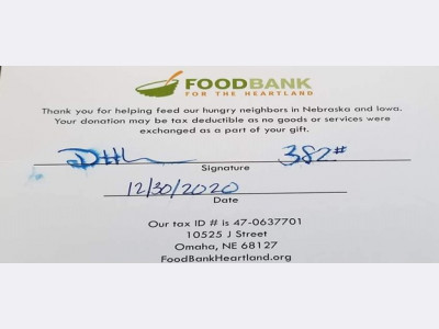 Food Donation to Foodbank for the Heartland