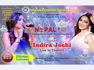 Miss Nepal USA Event Followed by  Indira Joshi Live Concert