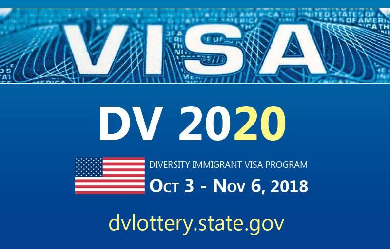 2020 Diversity Visa Program (DV-2020) is now open - Ending soon